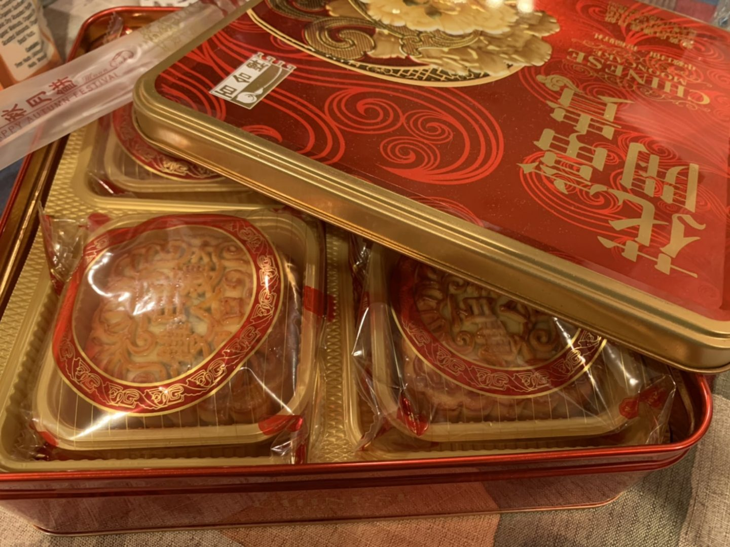 mooncakes sold in stores - mid-autumn festival 2021